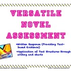 Novel Test: Written Response & Applying Text Structures-Any Novel