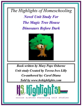 Novel Unit Study Dinosaurs Before Dark Magic Tree House Book #1