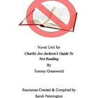 Novel Unit for Charlie Joe Jackson&#039;s Guide to Not Reading 