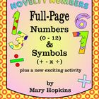 Novelty Numbers - Colorful Full-Page Classroom Display Set