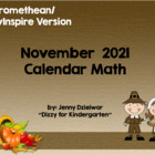 November 2012 Calendar for the Promethean Board