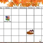 November Calendar Flipchart for ActivInspire