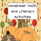 November Center Packet Activities