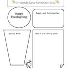 November Classroom Newsletter