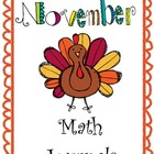 November Everyday Math Journals Printable