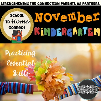 November Homework Packet--Kindergarten (All About Bears)