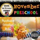November Homework Packet: Preschool Edition