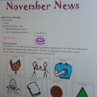 November Interactive Newsletter with Boardmaker Symbols fo
