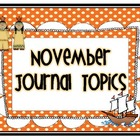 November Journal Topics for Kindergarten Level Guided Writing
