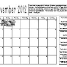 November -June Behavior Calendars