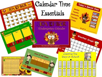 November Kindergarten Calendar for ActivBoard