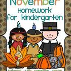 November Kindergarten Common Core Homework