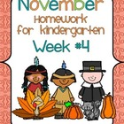 November Kindergarten Common Core Homework WEEK FOUR