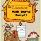 November Math Journal Prompts {Tickets}