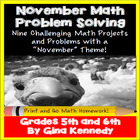 November Math Problem Solving Enrichment Project Menu: Com