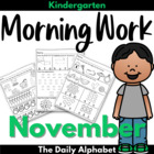 November Morning Work ~ Kindergarten