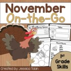 November On-The-Go {Math, Literacy, and Writing Printables}