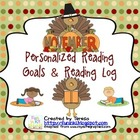 November Personalized Reading Goals and Reading Log