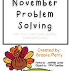 November Problem Solving