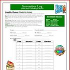 November Reading and Math Intermediate Log: Giving Theme
