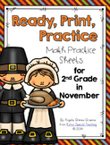 November Ready, Print & Practice Math Sheets