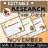 November Research Task Cards