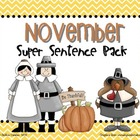 November Super Sentence Pack