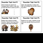 November Task Cards- in order