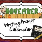 November &amp; Thanksgiving Writing Prompt Calendar ~ {Common 