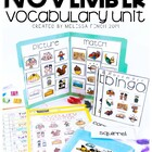 November Vocabulary Unit- Boardmaker Curriculum for Studen