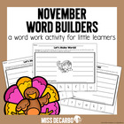 November Word Builders Freebie!