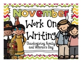 November  Work On Writing Packet {Thanksgiving,Family and