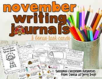 November Writing Center Task Cards