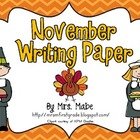 November Writing Paper
