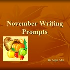 November Writing Prompts Power Point