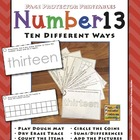 Number 13 Ten Different Ways