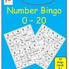 Number Bingo 0 - 20 (With a Twist!)