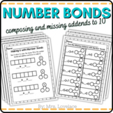 Number Bond Extra Practice - missing numbers, decomposing: