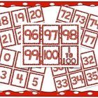Number Cards: 0 to 100 for games, number lines, 100 days o