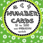 Number Cards 51 to 200 (with operation symbols)