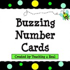Number Cards: Bee theme/Polka Dot