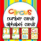 Number Cards and ABC Cards {Circus Colors}