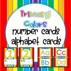 Number Cards and ABC Cards {Rainbow Colors}