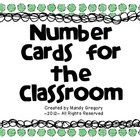 Number Cards for the Classroom