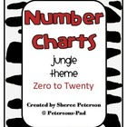 Number Charts 0-20 Jungle Theme