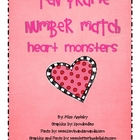 Number Concepts- Ten Frame- Valentine's Day: Heart Monsters