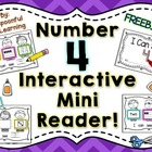 Number Four Interactive Mini Reader- FREEBIE!!