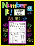 """Number It!"" – Activity Sheets for numbers 10-20"