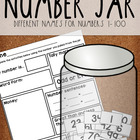 Number Jar 1-100 for Math Centers