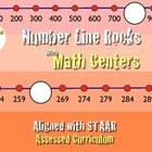 Number Line Rocks!!! Math Center aligned with Cscope K-2nd